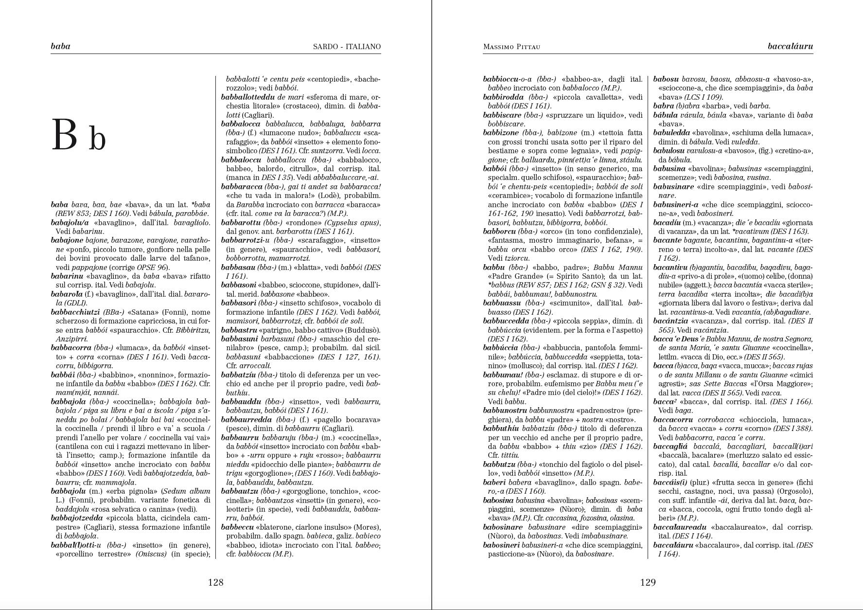 Vocabolario della Lingua Sarda_esempio