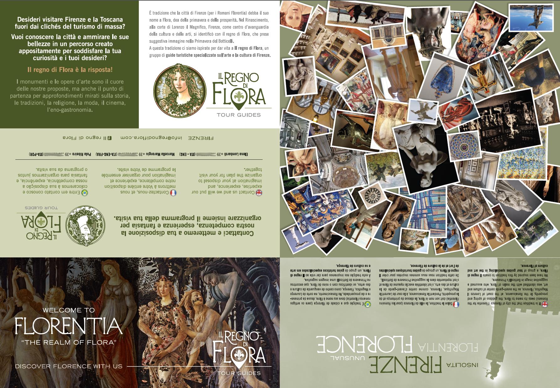 Depliant Il Regno di Flora. Insolita Firenze